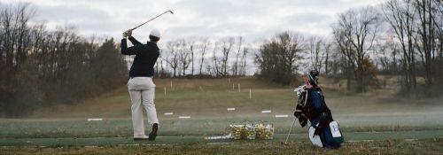 Golf team practice
