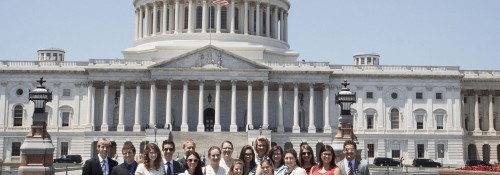 Students in front of capitol