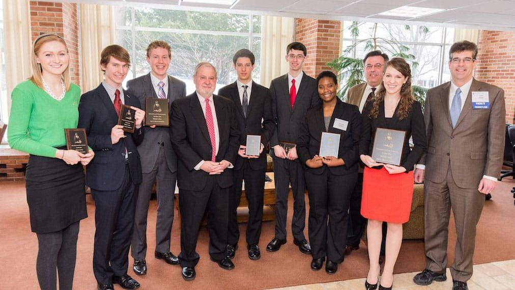 Group photo of the winners of the Edward Everett Prize in Oratory.