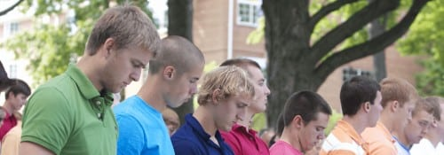 Freshmen at convocation
