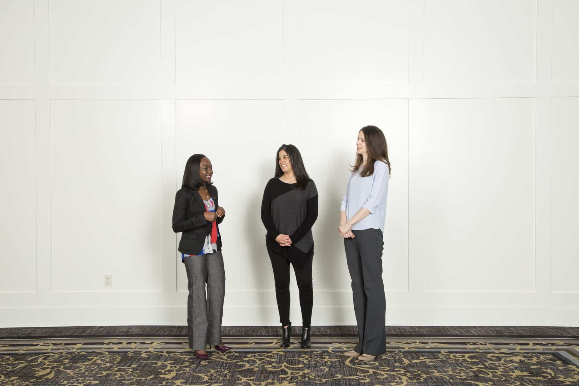 Hillsdale College alumni conversing.