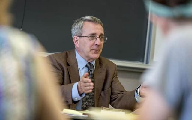 Dr. Whalen teaches a class