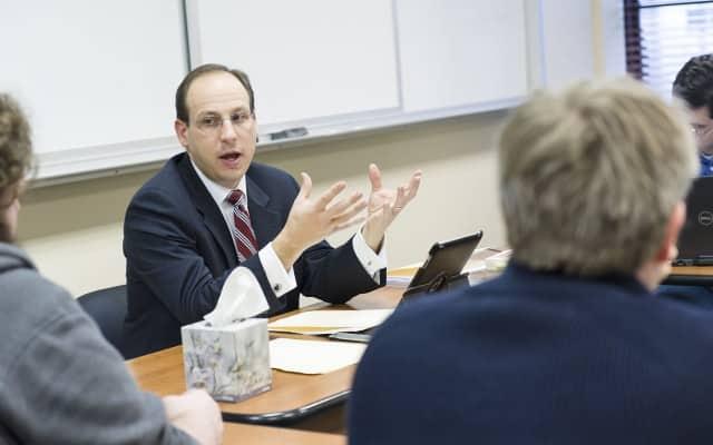 Dr. Prestritto teaches a class