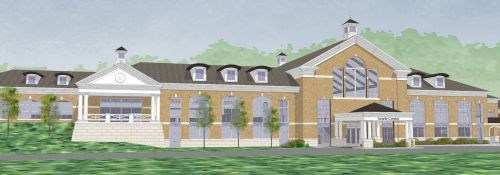 Visual render of the Searle Center.