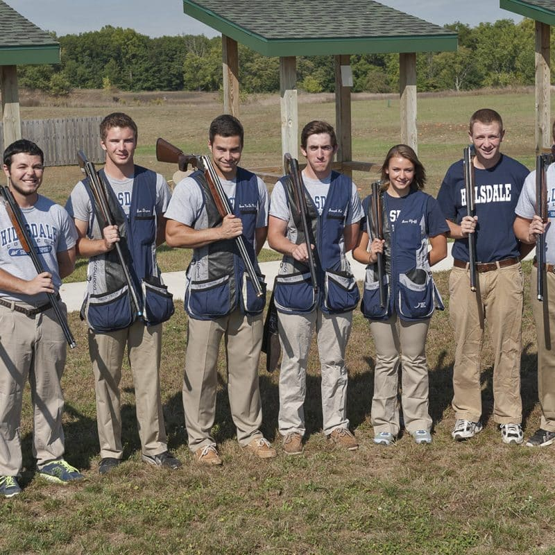Hillsdale College Shotgun Team group photo.