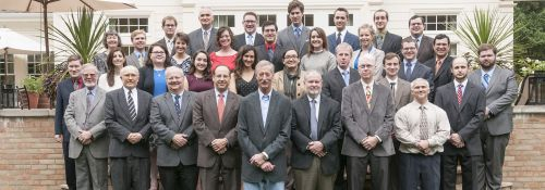 Steve Van Andel with graduate students, faculty, and staff