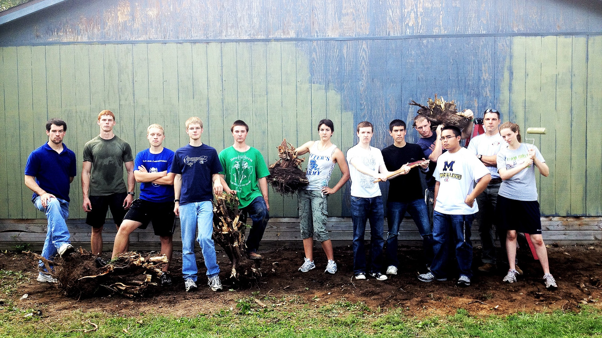 "GOAL—""A Few Good Student Men"" help the community with house and yard work."