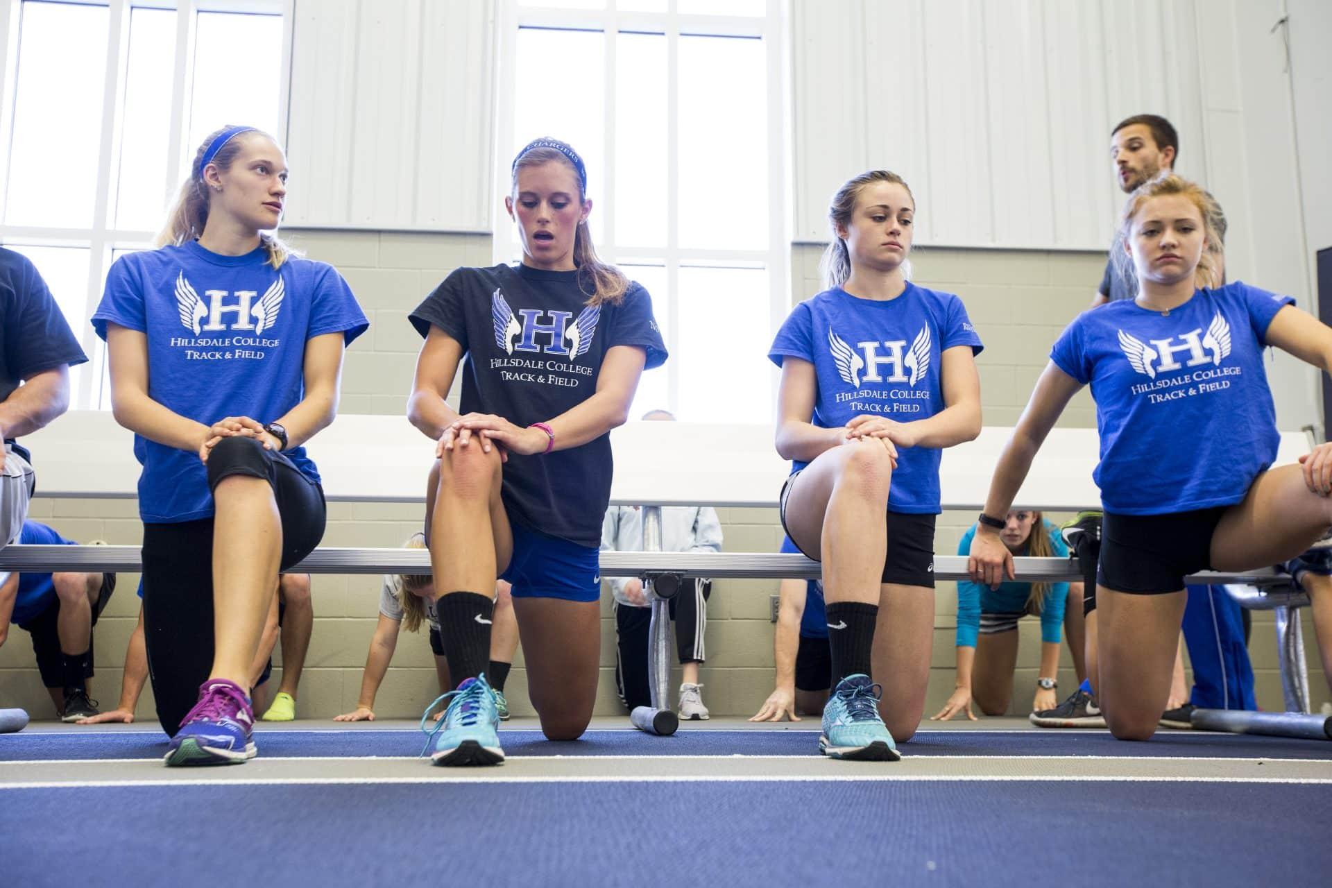 Hillsdale College Women's Track Team Practice Warm-up