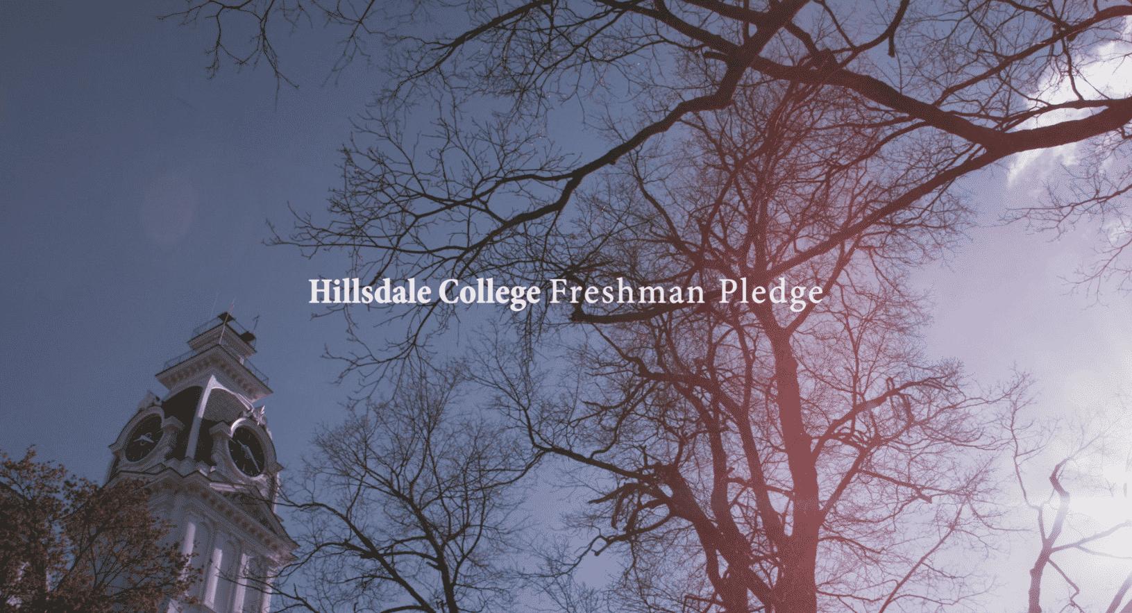 Hillsdale College Freshman Pledge