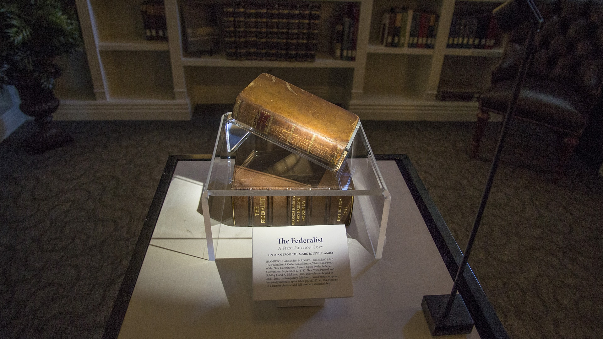 first edition of the federalist at the kirby center