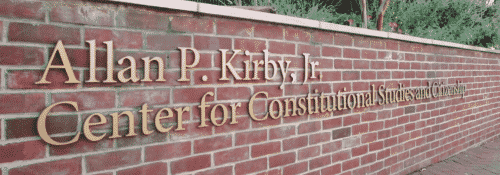 Hillsdale College Kirby Center Sign