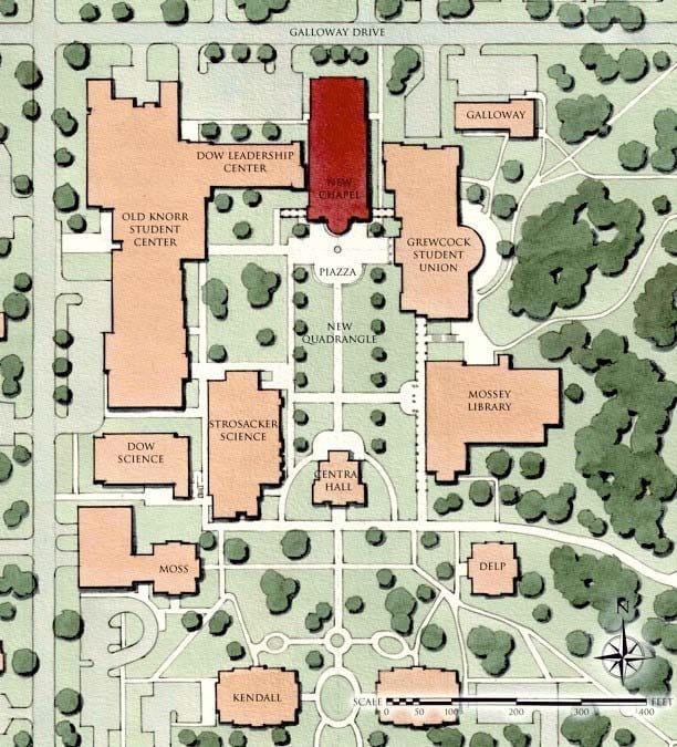 Norfolk State Campus Map.Christ Chapel The Hub Heart Of Campus Spiritual Life Hillsdale