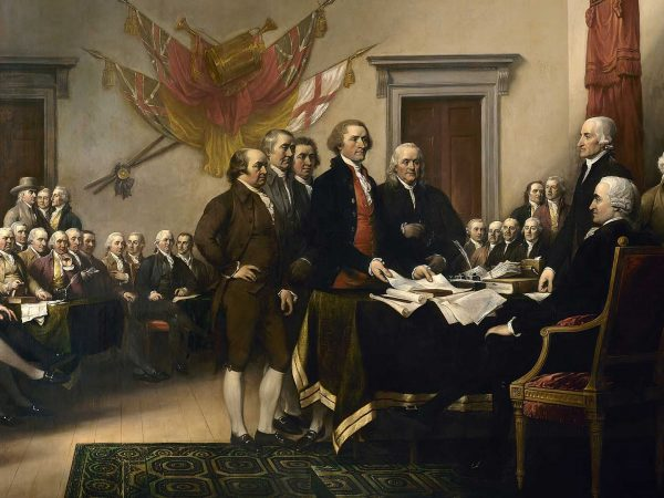 Painting of the Signing of the Declaration