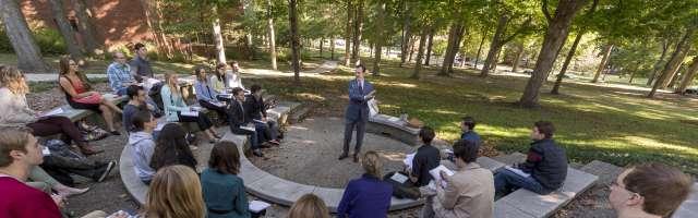 Cole teaching outside