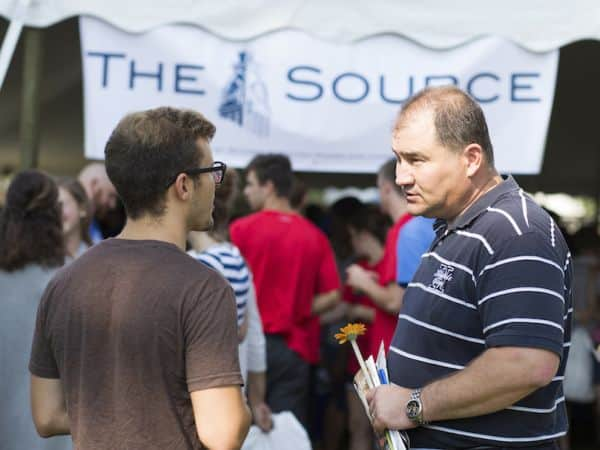 "Crowd gathered at Hillsdale College's ""The Source"" event."