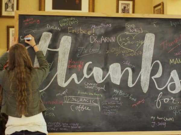 Day of Thanks in the Student Union