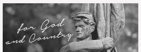 Statue of an American Civil War soldier; For God and Country.