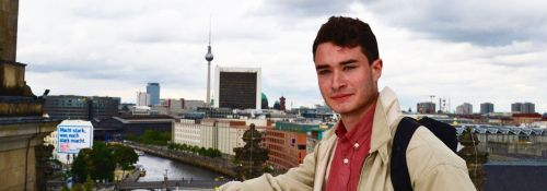 Finn Cleary studied abroad in Germany this summer