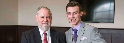 Jonathan Church with Dr. Arnn