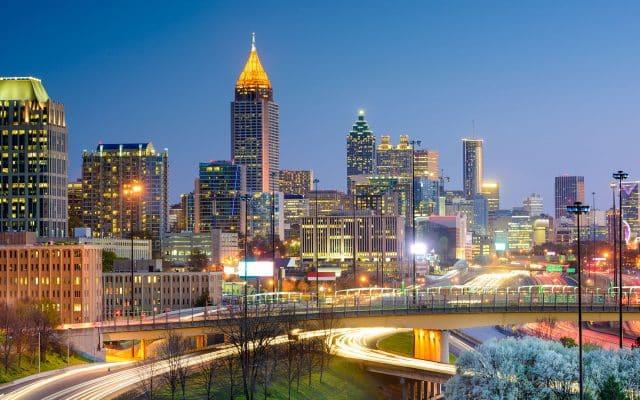 Downtown Atlanta at dusk