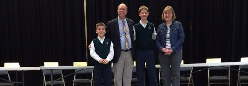 Hillsdale Academy National Geographic Bee champion Damion Scharer.