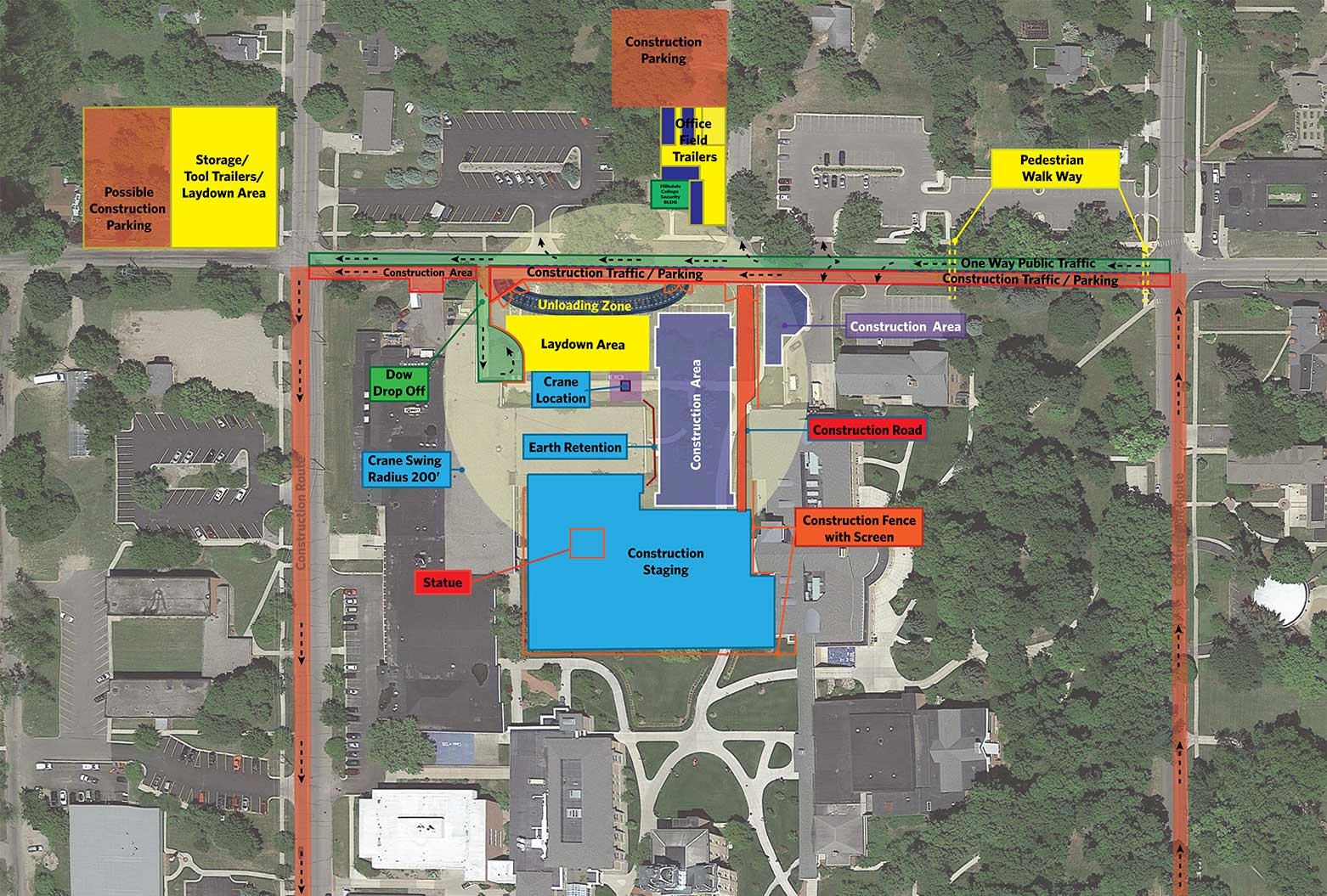 Chapel Construction Map