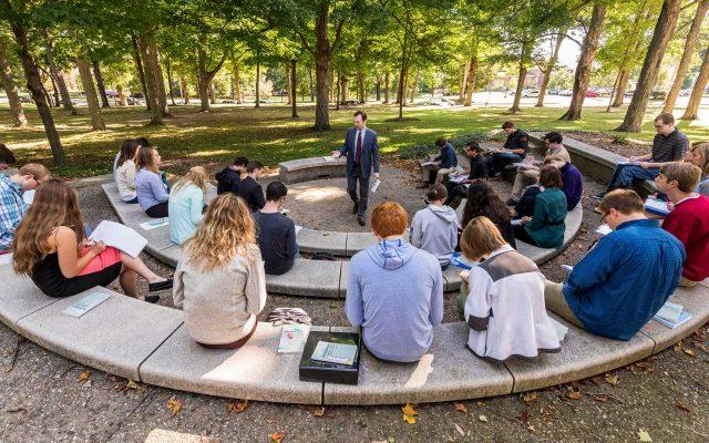 Dr. Cole teaching philosophy class