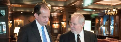 Secretary of Labor Alexander Acosta and Larry Arnn