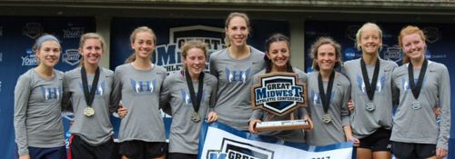 Hillsdale College Women Cross Country Champs 10-24-2017