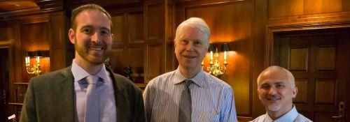 Three politics faculty authors: Carrington, West, and Slack.