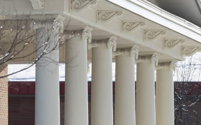 columns outside fine arts building