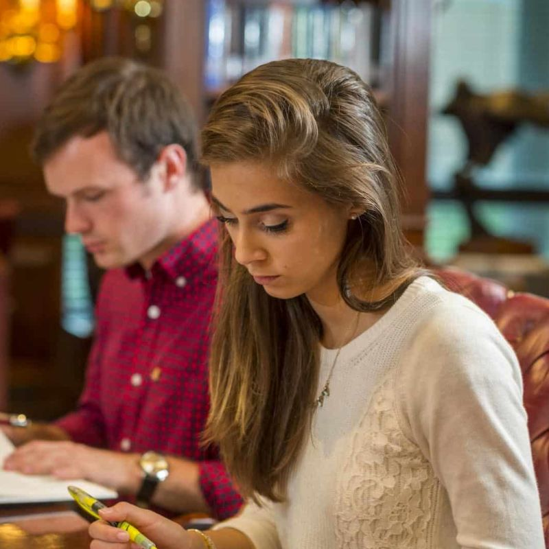 Students in Heritage Room