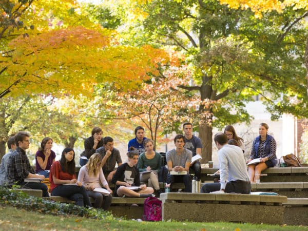 Hillsdale College admissions video behind the scenes, portraits and campus life on October 21, 2015.