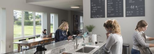 Penny's coffee shop in Hillsdale College's new, unnamed dorm.