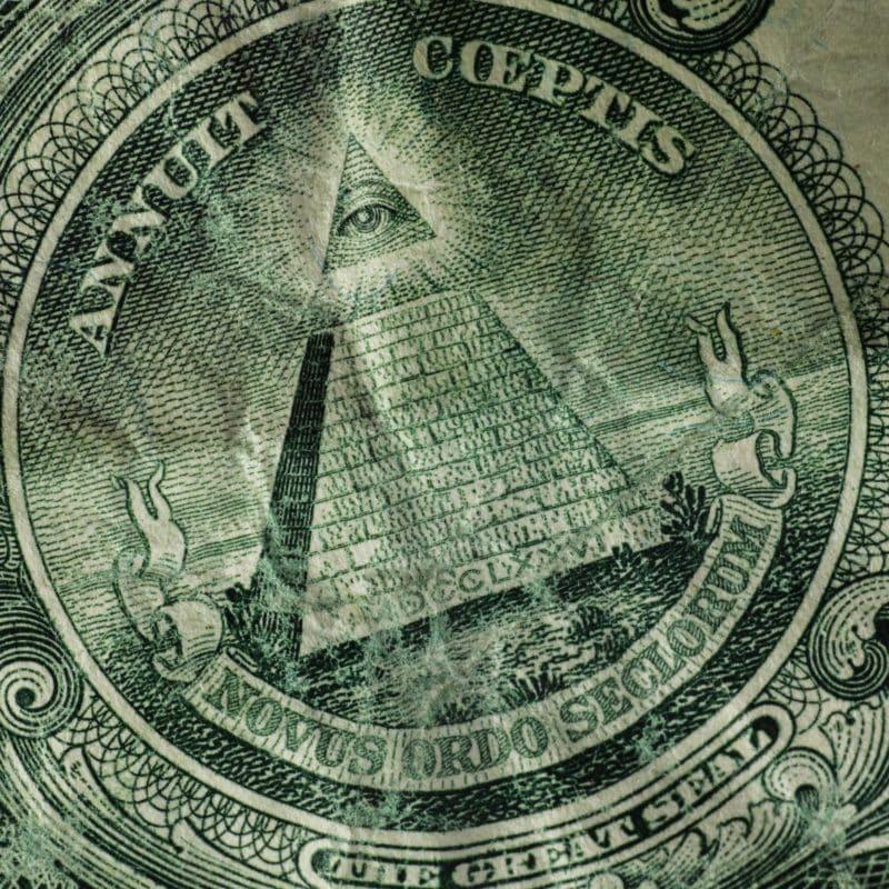 Dollar Bill Pyramid and Eye