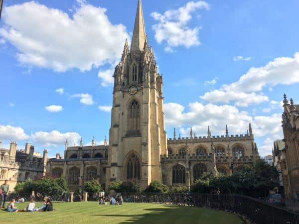Oxford University Exterior Sunny Courtyard
