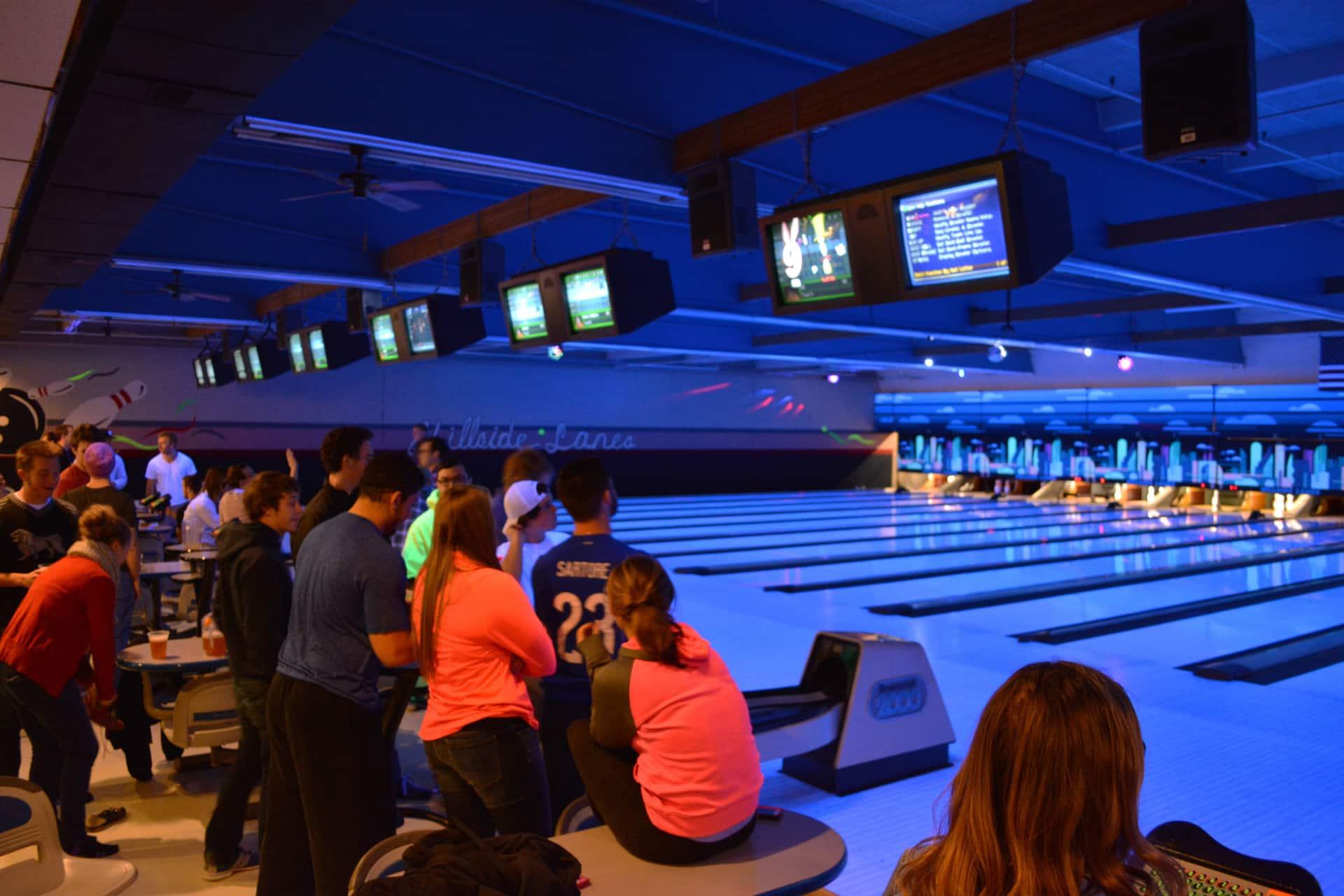 Students at Bowling Night.