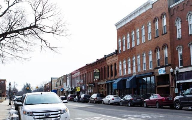 View of downtown Hillsdale.
