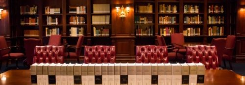 Biographies of Winston Churchill in the heritage room