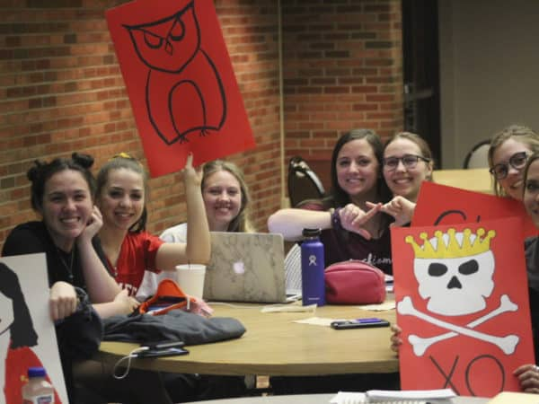 Chi Omega members at greek week trivia 2019