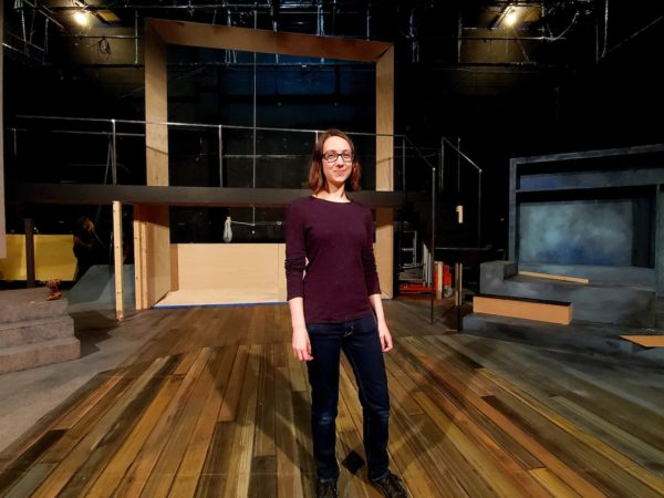 Haley Walsh on the stage of one of the productions she has worked on.
