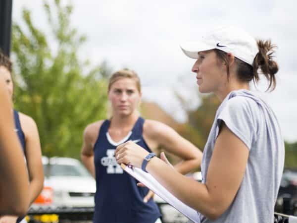 Hillsdale College women's tennis team practice