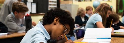 Atlanta Classics Academy student at desk