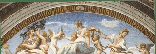 Raphael's Cardinal Virtues Wall