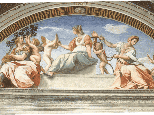 Raphael's Cardinal Virtues Wall