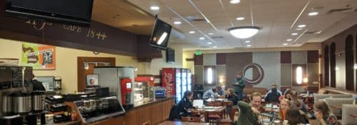 AJ's cafe on campus