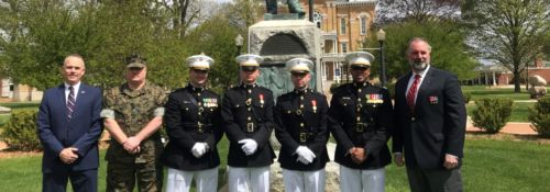 Marine Corp Commissioning on Hillsdale's campus
