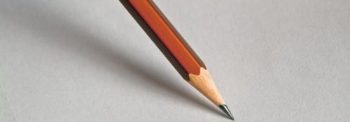 Sharpened pencil about to draw