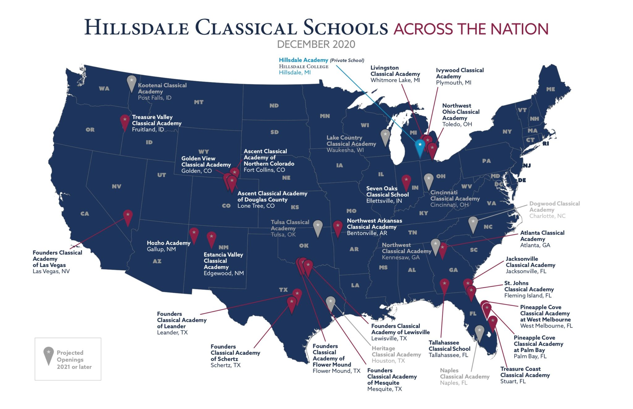 Hillsdale Classical Schools Across the Nation