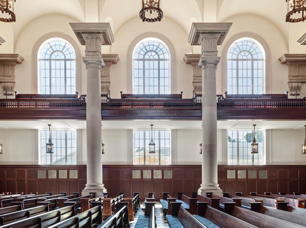 A view of the chapel's interior